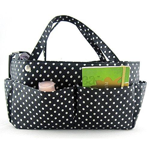 Organizer Schwarz Handtaschen (Periea Handtaschen-Organizer Schwarz Mit Weißen Punkten -Tilly)