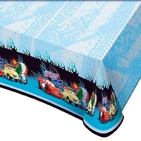 Partner Jouet - DYB551178 - Décoration de fête - Accessoire de table - Nappe Cars - 180 x 120 cm