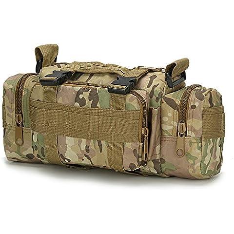 NYKKOLA 3P tattico militare marsupio borsa a tracolla zaino Deployment versatile Molle Marsupio a mano trasportare Campeggio Zaino Borsa per fotocamera impermeabile, 9