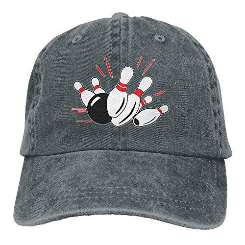 Ingpopol Men Women Adjustable Denim Fabric Baseball Caps Bowling Trucker Cap Big Bill Strap