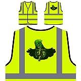 Corpse Bride Skull Novelty Funny Personalized Hi Visibility Yellow Safety Jacket Vest Waistcoat mm77v