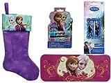 Disney La Reine des neiges 45,7cm Feutre Bas de Noël avec 2Baume à lèvres, Étain, Trousse et 6crayons de couleur la Reine des neiges