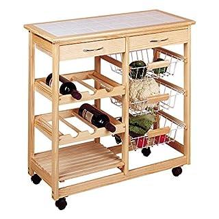 Inalsa Küchenwagen doppelt Holz