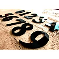 Goldeal moderna casa puerta Número 0–9A a D–negro brillante–placa de números dígitos placa señal para casa–Parte superior calidad, 8