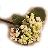 LUFA Fleurs artificielles Bouquet Auspicious Noël Fruit Home Decor baies végétales vert 1pcs
