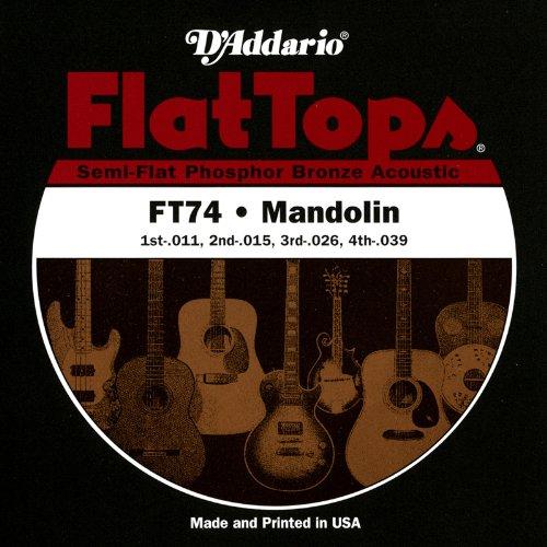 DADDARIO FT74   JUEGO DE CUERDAS PARA MANDOLINA  MANDOLA  MANDOCELLO  MANDOBAJO DE FOSFORO/BRONCE