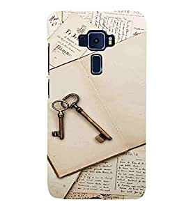 Key, White, Success Key, Lovely Pattern, Printed Designer Back Case Cover for Asus Zenfone 3 Deluxe ZS570KL (5.7 Inches)