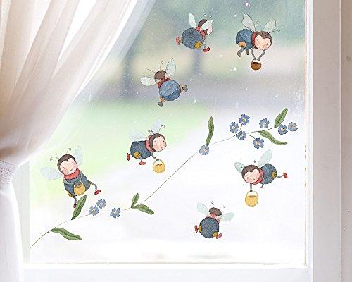 TinyFoxes Fensterbild Hummeln aus 7 Teilen zum Wiederverwenden