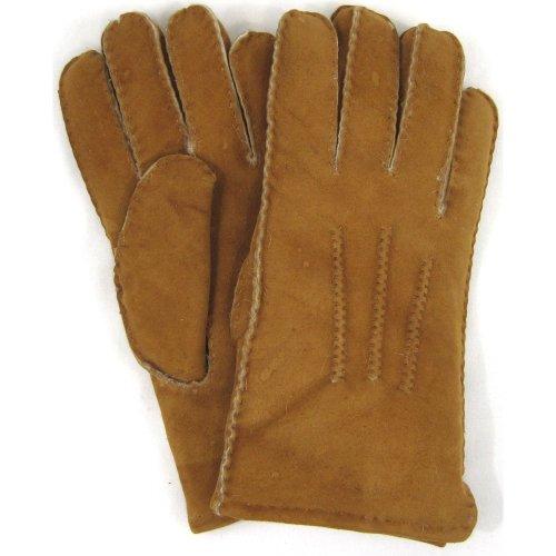 Herren-Luxus-Lammfell Handschuhe. Tan.
