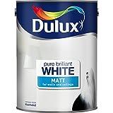 Dulux 5092360 2.5 Litre Pure Brilliant White Paint - Matt