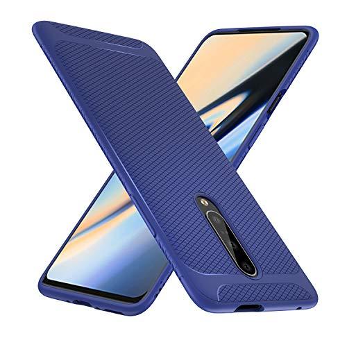 iBetter Per Oneplus 7 PRO Cover, Thin Fit Gomma Morbida Protettiva Cover, Protezione Durevole,per la Oneplus 7 PRO Smartphone.(Blu)