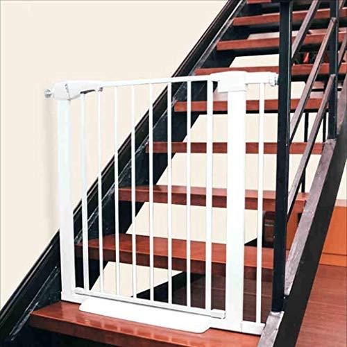 Sicherheits-Metalltor Mit Dünner Trittstufe, Stop-Treppen-Tor, Ideal Für Kinder Und Haustiere, Weiß (mehrere Größen) (Size : 95-102cm)