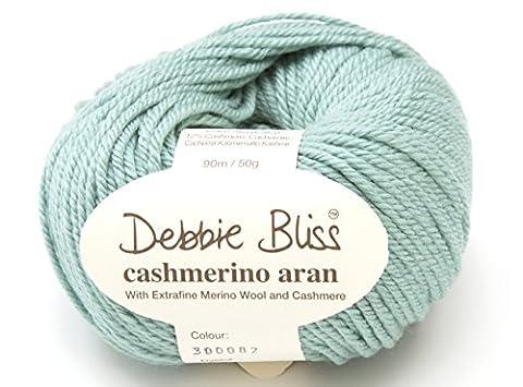 Debbie Bliss Cashmerino Strickgarn Aran zum Handstricken, 50g, 082Duckegg