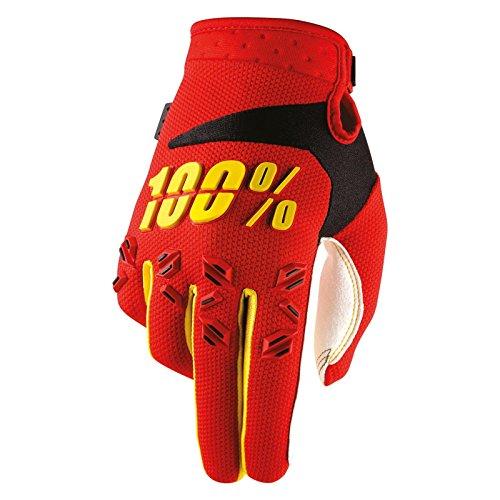 100% Prozent Airmatic Kinder Handschuhe Verstärkt MTB DH MX Motocross Enduro Offroad Quad, HU-GLO-0008, Farbe Rot Gelb, Größe S