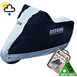 SUZUKI GSX1400 Oxford Motorcycle Cover Waterproof Motorbike Silver Black