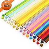 Sterne Papierstreifen, Origami-Papier, Meiso 1080 Blätter doppelseitiges Origami Sterne Papier - 27 Farben Dekoration Papierstreifen