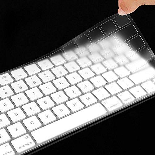"""XIHAMA Silikon Tastaturschutz mit Touch Bar, Hauchdünner Tastatur Schutzfolie Cover Haut für neue 2016-2018 MacBook Pro 13"""" A1989/A1706 MacBook Pro 15"""" A1990/A1707 ((DE Version) klar)"""