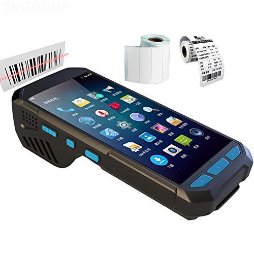 PDA de Terminal Tenu dans la Main de Lecteur de Code à Barres du Scanner 1D / 2D QR avec l'imprimante 4G LTE Android6.0 pour la logistique d'inventaire d'entreposage