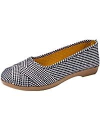 Zapatos de estilo campo para mujer,Sonnena Zapatos Casuals simples de las mujeres de la moda Zapatos Casuals respirables Zapatos de tela