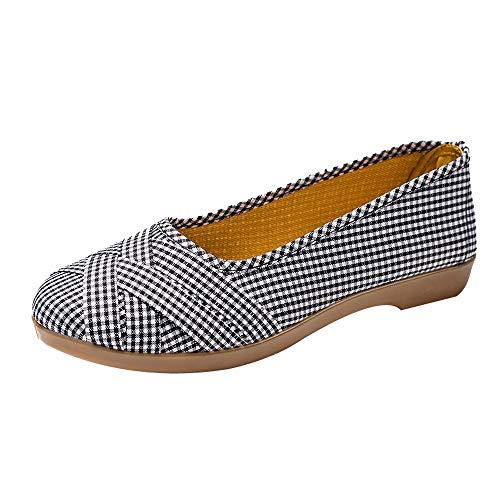 OSYARD Femme Chaussons Mousse en Peluche Dames Bas-Top Chaussures D'intérieur Mule Anti-Slip Léger(Gris,38 EU)