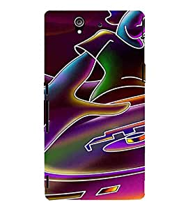 For Sony Xperia Z :: Sony Xperia ZC6603 :: Sony Xperia Z L36h C6602 :: Sony Xperia Z LTE, Sony Xperia Z HSPA+ Cartoon, Black, Cartoon and Animation, Printed Designer Back Case Cover By CHAPLOOS