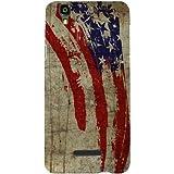 Casotec Vintage American Flag Design Hard Back Case Cover for Micromax Yu Yureka AQ5510 / AO5510