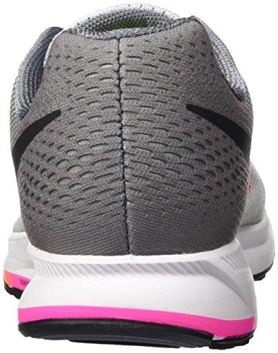 Nike Damen Wmns Air Zoom Pegasus 33 Laufschuhe Grau (Pure Platinum/Black-Cool Grey-Pink Blast)