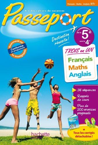 Passeport - Français-Maths-Anglais de la 5e à la 4e