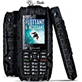 Crosscall Shark V2 Téléphone portable débloqué 2G (8 Go - Ecran : 2,2 pouces - Double SIM) Noir