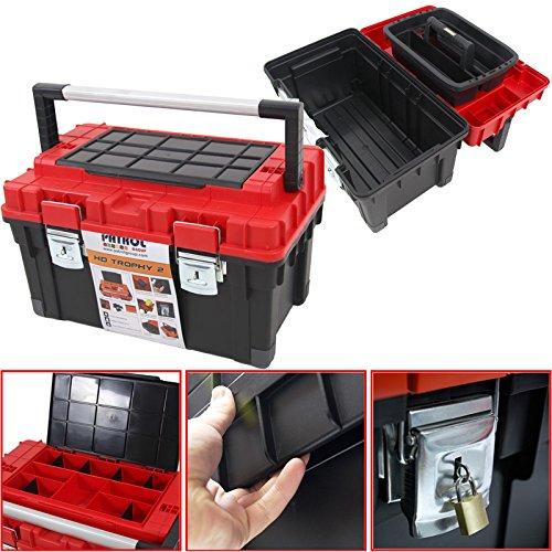Kunststoff Werkzeugkoffer HD Box Trophy 2, 60x35cm Kasten Werzeugkiste Sortimentskasten Werkzeugkasten Anglerkoffer