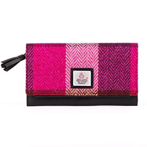Harris Tweed, Damen-Geldbörse Pink Squares Dimensions: 18cm x 10cm x 2.5cm