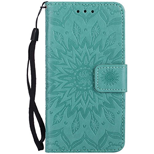Custodia iPhone 6 / 6S, cmdkd Wallet Custodia Bumper per iPhone 6 / 6S. (Porpora) Verde