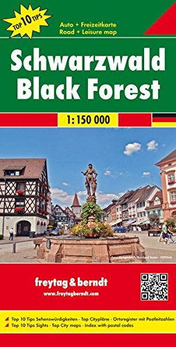 Selva Negra, mapa de carreteras. Escala 1:150.000. Freytag & Berndt. (Road Maps) por VV.AA.