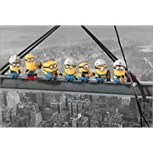 Póster Despicable Me - Minions Lunch on a Skyscraper - cartel económico, póster XXL