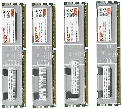 Komputerbay 8GB (4x2GB) DDR2 PC2-5300F 667MHz CL5 ECC Fully Buffered 2Rx4 FB-DIMM (240 PIN) w/