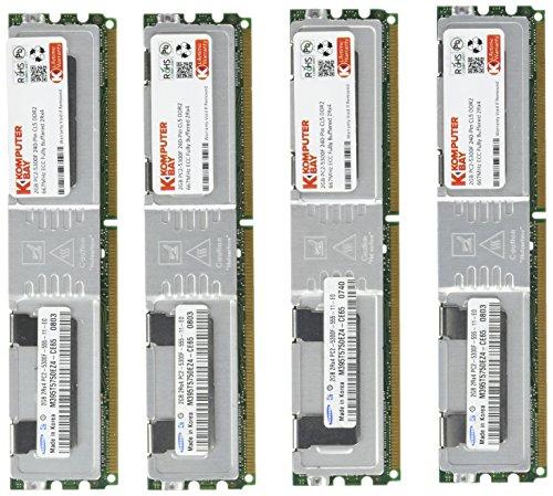 Komputerbay 8GB (4x 2GB) DDR2 PC2-5300F 667MHz CL5 ECC Fully Buffered 2Rx4 FB-DIMM (240 PIN) con dissipatori di calore