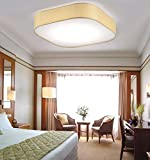 GFDHR Luces de techo- Dormitorio de la habitación de tela cuadrada de estilo coreano americano el techo de LED nórdico - hogar cálido manta (color: amarillo-30 cm)