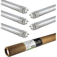 ECOLIT® Pack de 5 bombillas TUBO LED 10W G13 4000K blanco natural (60cm)