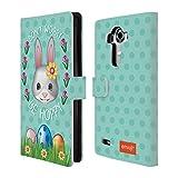 Head Case Designs Offizielle Emoji® Be Hoppy Ostern Brieftasche Handyhülle aus Leder für LG G4 / H815 / H810