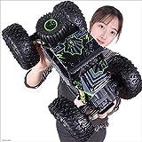 Kikioo Voiture RC 4WD avec spécial 4 Mode de conduite du véhicule routier 2.4Ghz Voiture télécommandée échelle 1:18 RC Monster Truck Rock Crawler jouet de véhicule routier avec double moteur, meilleur