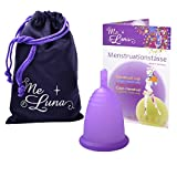 Me Luna Menstruationstasse Classic, Stiel, Violett, Größe XL