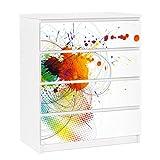 Apalis 91326 Möbelfolie für Ikea Malm Kommode - selbstklebende Rainbow Background, größe 4 mal, 20 x 80 cm
