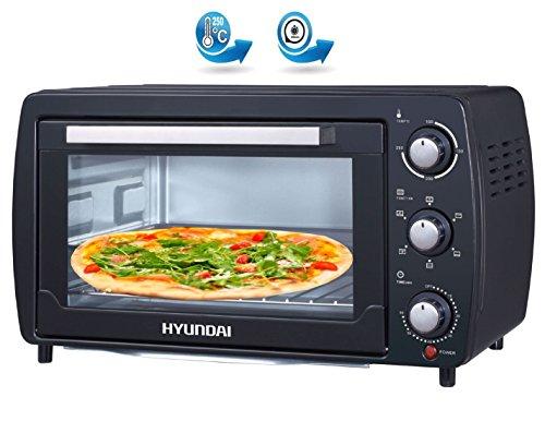HYUNDAI HY-202 | Mini Backofen | 20 Liter Miniofen | Minibackofen | 1.380 Watt | Innenbeleuchtung | Temperaturregelung 100-250°C Ofen | Pizzaofen | Timer