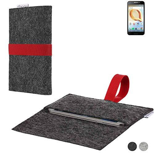 flat.design Handy Hülle Aveiro für Alcatel A30 Plus passgenaue Filz Tasche Case Sleeve Made in Germany