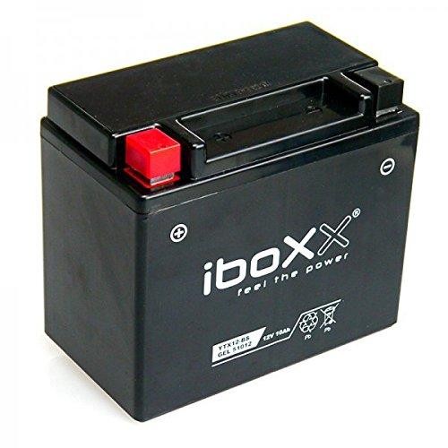 Preisvergleich Produktbild Iboxx Motorrad Gel Batterie / Gelbatterie YTX12-BS,  12 Volt,  10 Ah für Piaggio Beverly 350 ie Sport Touring ABS,  M69300,  Bj. 2014-2015