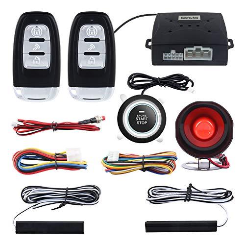 Roll code Smart PKE Passiv Schlüsselloser Zugang Auto Alarm System mit Druck Start Fernbedienung Motor Start Automatisch Eigentümer Erkennen Auto Schliessen Entsperrt
