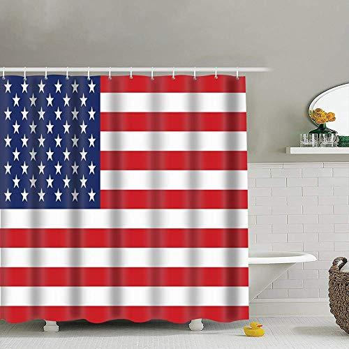Setyserytu Duschvorhänge/Badvorhänge, United States Flag Polyester Fabric