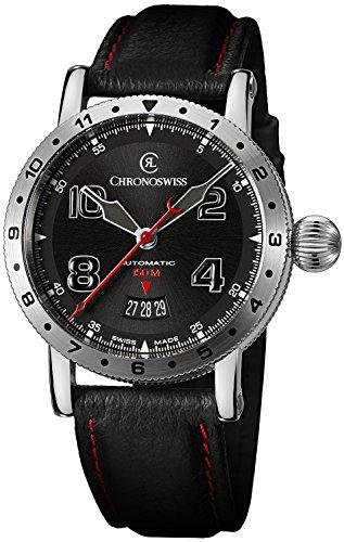 Chronoswiss Timemaster 150 Automatic Steel Mens Strap Watch Calendar CH-2733-AZ/31-1