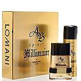 Ab Spirit Millionaire By Lomani 2 Piece Gift Set For Men