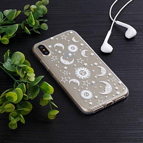 Slynmax Crystal Clear TPU Cover per iPhone X Custodia Silicone Caso Molle di Morbida Sottile Gel Transparent Bumper Case Protettiva Caso Chiaro Copertura Slim Thin Skin Shell Protezione per iPhone X S Modello #11